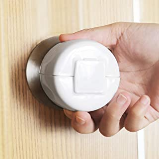 Door Knob Safety Cover for Kids, 4 Pack Child Proof Door Knob Covers, Door Knob Handle Covers Prevent Baby from Opening Doors