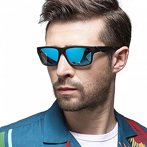 BAJIE Gafas de Sol Gafas de Sol polarizadas para Hombre Gafas de Sol rectangulares Drive Shadow Gafas de Sol para Hombre Espejo Cuadrado para Hombre Ojos de Verano Uv400