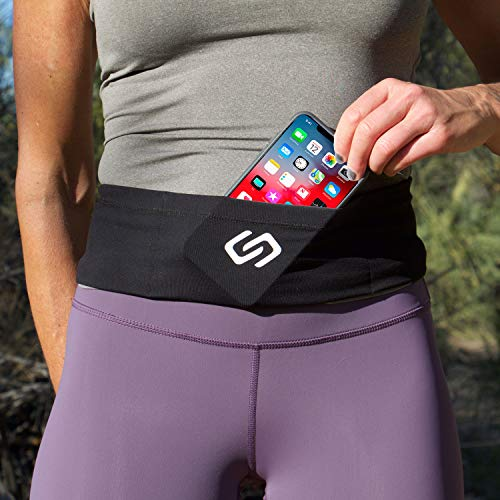 Sporteer VersaSlim Running Belt, Travel Money and Passport Belt, Workout Waist Pack for Smartphones and Personal Items (Small)