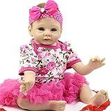 SERBHN Simulación Doll Reborn Baby, 55 Cm Reborn Reborn Muñeca De Bebé Recién Nacido Lifelike Set Lovely Smile Face Muñeca Ponderada-Default