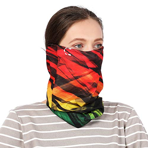 REACH STAR Womens Bandana Headwear Reathable Balaclava Neck Gaiter Tactical Masks Cooling Summer Face Cover for EDC Festival Rave Outdoor Exercise (BR26)