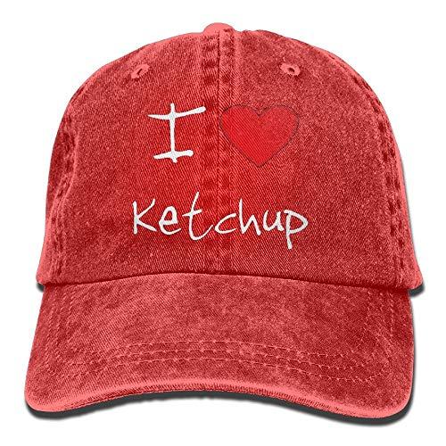 Kappe Ich Liebe Herz Ketchup Trend Cowboyhut Geschenke Bequeme Trucker Neuheit Hip-Hop Frauen Papa Hut Klassische Baseballmütze Sonnenschutz Männer Bunte Sportarten Im Freien Verst