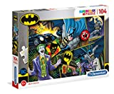 Clementoni 25708 Rompecabezas Supercolor Batman-104 Piezas, Rompecabezas para niños
