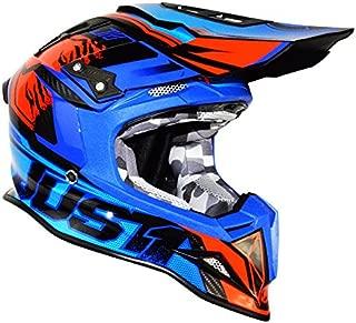 Just1 Dominator Adult J12 Off-Road Motorcycle Helmet - Blue/Red/X-Large