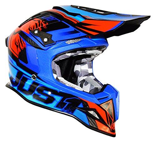 JUST1 Helme J12 Dominator, Blau-Rot, L