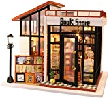 QLKJ DIY Bookstore Decoration Madera DIY Micro con Modelo De Casa De MuñEcas A Prueba De Polvo con...