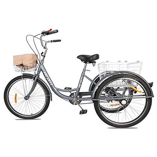 3-Wheeled Adult Tri   cycle with Removable Basket, 24