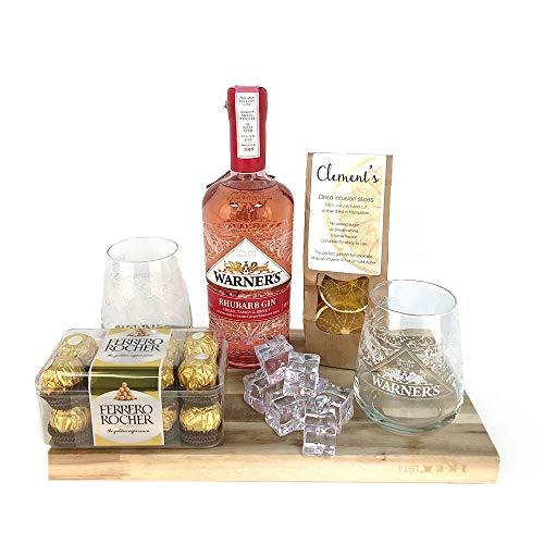 Photo of Premium Gin Gift Hamper | Warner's Rhubarb Gin – in a beautiful gift box (WR2G)