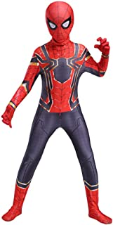 RNGNBKLS Kind Spiderman Kostüm Halloween Karneval Cosplay Party Anzug Superheld Spandex/Lycra Verkleidung,A-150(140-159cm)