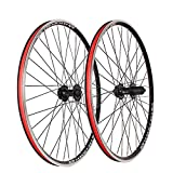 LSRRYD MTB Juego Ruedas Bicicleta 26' Freno C/V Llanta Bicicleta Liberación Rápida Rueda Libre Cassette 7-10 Velocidades Buje Rodamientos Sellados 32 Habló (Color : Black, Size : 26inch)