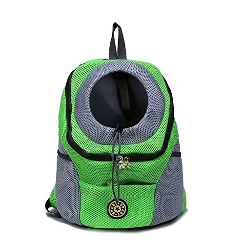 SHUOHAO Pet sling, cat and dog backpack and dog transport bag Kawei kennel (Color : Green, Size : 36x45x21cm)