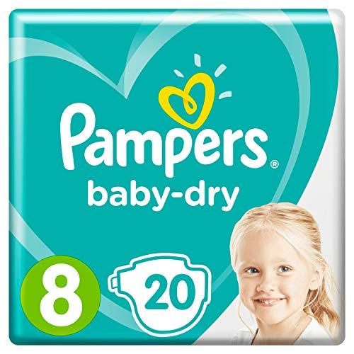 Pampers Baby-Dry Gr. 8, 20 Windeln, Für Atmungsaktive Trockenheit