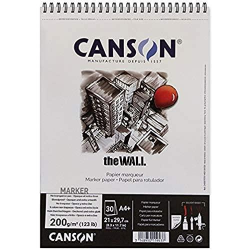 Canson The Wall Spiralalbum 30 Blatt extra glatt 200g/m² 21 x 29,7 cm weiß
