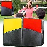 Kit de Tarjetas de Árbitro de Deportes Tarjeta Roja Tarjeta Amarilla con Tarjetero de Árbitro de Meta de Entrenador para Fútbol
