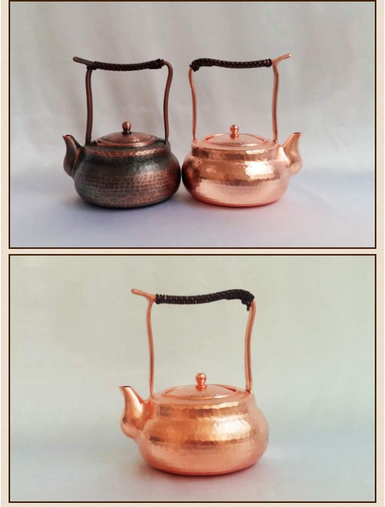 YXDEW Bouilloire cuivre Bouilloire Teapot Kung Fu Tea Set Accueil Main Thicken Cadeaux Bouilloire (Color : Brown) Brown