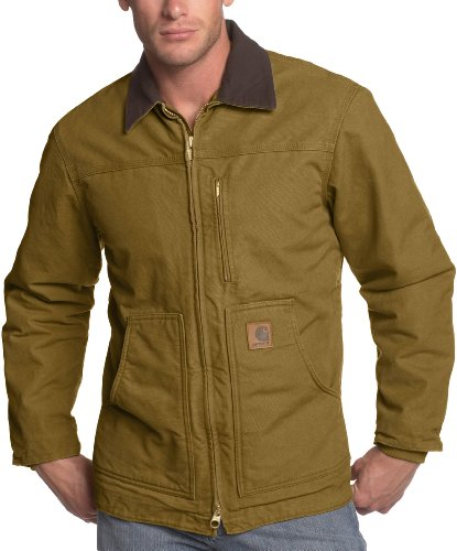 Carhartt Men's Ridge Sherpa Lined Coat - Medium - Gravel