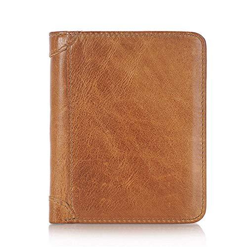 Portemonnee Geld Clip Polsband Coin Pocket portemonnee Pouch Organizers Cash Credit Protector Eerste Laag Leer Korte lederen portemonnee mannen 1 BRON