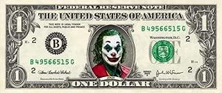 JOKER on a Real Dollar Bill Joaquin Phoenix Collectible Cash Money Rare Mint $1