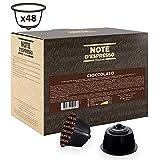 Note d'Espresso - Cápsulas de chocolate, Exclusivamente Compatibles con cafeteras de cápsulas Nescafé, Dolce Gusto, 48 unidades de 14g