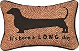 Manual 12.5 x 8.5-Inch Decorative Embroidered Word Pillow, It's Been a Long Day