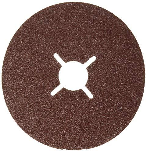 Bosch 2 608 605 467 - Disco lijador de fibra para amoladora angular, corindón (115 mm, 22 mm, 80)