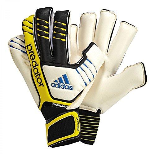 adidas Herren Torwarthandschuhe Predator Fingersave Allround, black/white/vivid yellow s13/prime blue s12, 12, Z19129