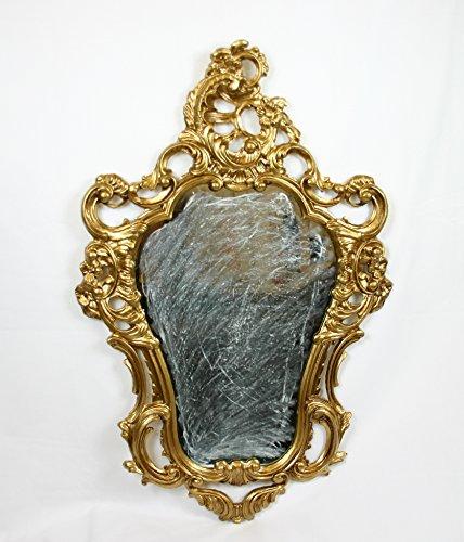 Ideacasa Specchio Dorato Oro Specchiera Stile Barocco Luigi XVI Finto Vintage Cm 75x49
