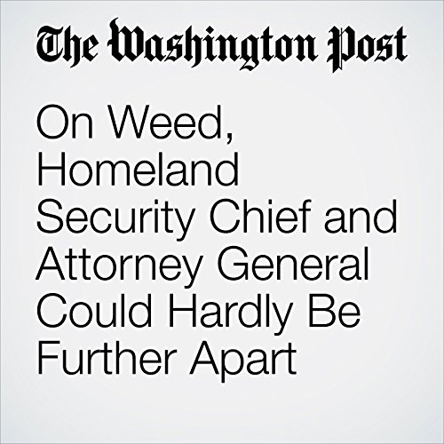 On Weed, Homeland Security Chief and Attorney General Could Hardly Be Further Apart audiobook cover art