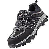 Zapatillas de Seguridad Hombre Ligeras,Hombre Mujer Transpirable Ligeras con Puntera de Acero Calzado de Zapatos de Trabajo Industrial y Deportiva,Light Gray▁39