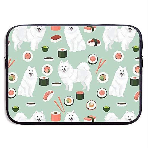 Waterdichte Computer Tas, Zakelijke Aktetas Mes, Laptop Sleeve Case Cover, Japanse Spitz Sushi Samoye hond Tablet Case Cover, Compatibele Notebook Bag Case, Laptop Sleeve Bag