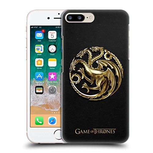 Head Case Designs Oficial HBO Game of Thrones Targaryen Oro Embossed Sigils Carcasa rígida Compatible con Apple iPhone 7 Plus/iPhone 8 Plus