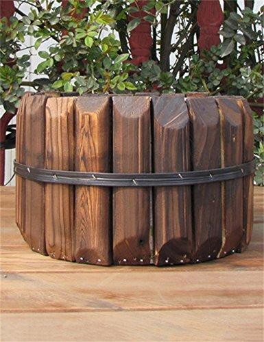XYZ Creativo carbonizzazione conservante per il legno POT di fiore, Pianta grassa Pentole, Planter Fiore, titolare delle piante delicato durevole ( stile : A )