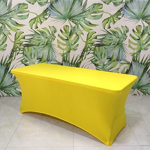 LXWLXDF-Funda de sofá Spandex Rectangular Mantel Estiramiento Tabla Protector de la Cubierta - for Eventos Ferias Banquete de Caballete Tabla (Color : #-15, Size : 5FT(153 * 76 * 76CM))