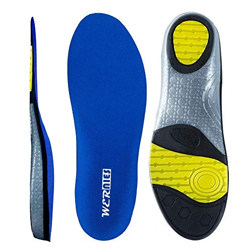 Blue Size 13 Running Shoe Insoles-Arch Replacement Sports Shoe Inserts-Comfort and Support Fits Work Boots, Casual Shoes & Sneakers