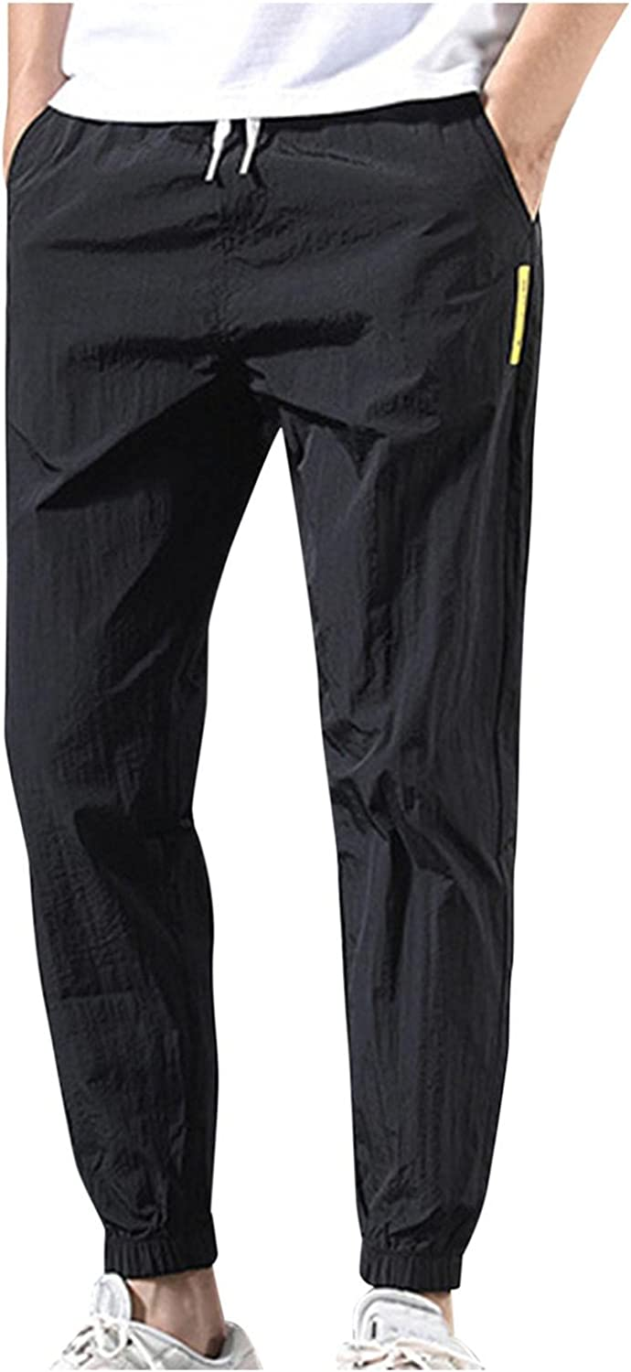Beshion Mens Joggers Sweatpants Slim Fit Athletic Workout Pants Plus Size Loose Tracksuit with Tied Feet Pants Trousers