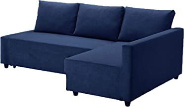 The Dark Blue Friheten Thick Cotton Sofa Cover Replacement is Custom Made for IKEA Friheten Sofa Bed, Or Corner, Or Sectional Slipcover. Sofa Cover Only! (Blue Left Arm)