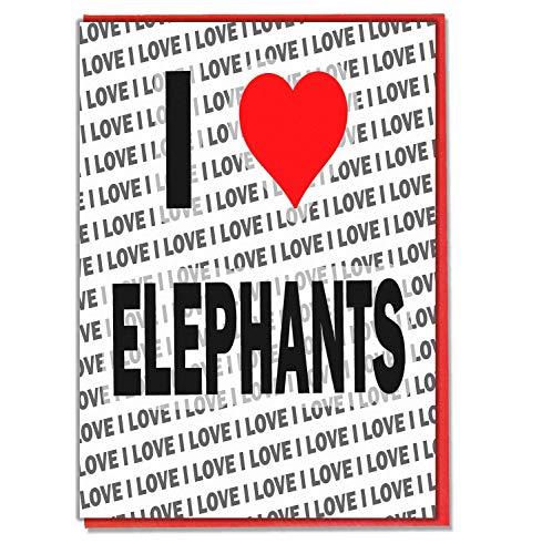 Ik hou van olifanten - wenskaart - verjaardagskaart - dames - mannen - dochter - zoon - vriend - man - vrouw - broer - zuster