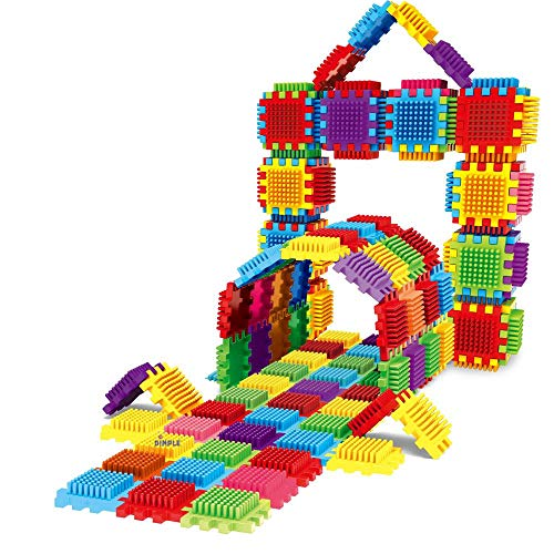 Set of 60 Blocks Total 360 Pieces Large Sensory Pieces and Interconnecting Stacking Building Set for Boys & Girls, Put Together and Pull Apart Blocks, Educational Fun, Great Toy for Child Development