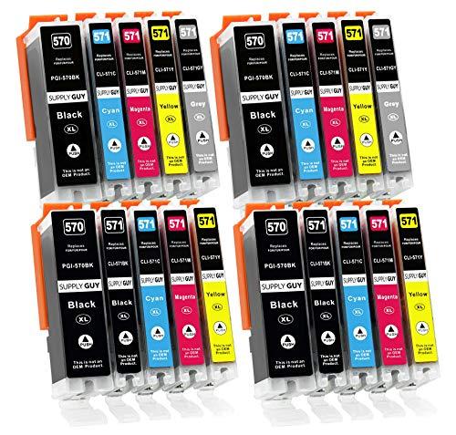 Supply Guy 20 XL Druckerpatronen mit Chip kompatibel mit Canon PGI-570 CLI-571 für Pixma MG-7700 MG-7750 MG-7751 MG-7752 MG-7753 TS-8000 TS-8050 TS-8051 TS-8052 TS-8053 TS-9000 TS-9050 TS-9055