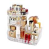 MELUR Organizzatore di trucco, espositore cosmetico girevole da 360 gradi, organizer per v...