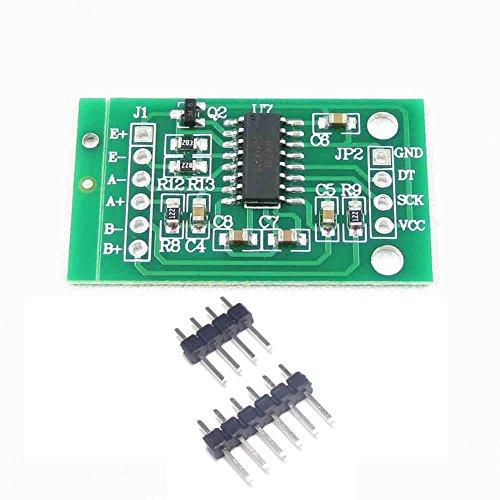 daorier HX711Gewicht Sensor Dual-Channel 24Bit Präzision A/D Modul Druck Sensor für Arduino Mikrocontroller