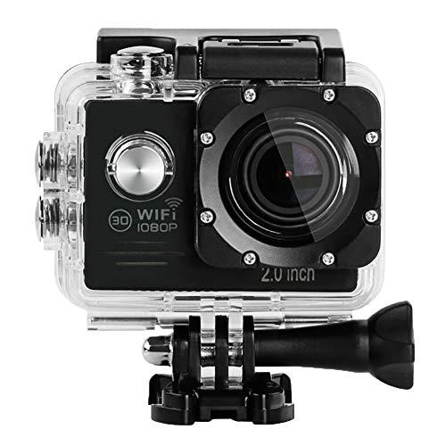 LuckyZA 1080P Action Fotocamera Impermeabile Action Cam Digitale HD WFI 16MP 2.4G con Controllo remoto videocamera Subacquea da 30 m con batterie Ricaricabili e Kit di Accessori