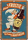 DONJIE Frostie Old Fashion Root Funny Retro Metal Tin Sign para Bar Cocina Hombre Cueva Familia Club Garaje Decoración de Pared 20 X 30 cm