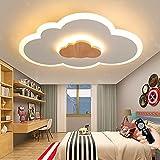 Nubes Luz De Techo LED Regulable Con Control Remoto Lámpara De Techo Madera Acrílica Moderna Iluminación De Techo Para Habitación De Niños Dormitorio Jardín De Infantes Sala De Estar Comedor (50CM)