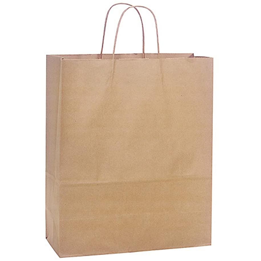 NW Natural Kraft Shopping Bags - Medium Sized - 13x6x15.5in. - 250 pack
