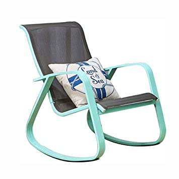 Amazon Com Jnweiyu Comfortable Relax Rocking Chair Lounge Chair Relax Chair Nordic Simple Siesta Chair Rocking Lazy Chair Easy Chair Color Blue Baby