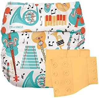 Flip Reusable Potty Training Cloth Diaper - Shell with Side Panels (Louis/Clementine)