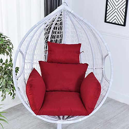 Wiszący fotel z zagłówkiem, zintegrowane podłokietniki, poduszka do zawieszenia w pomieszczeniach lub na zewnątrz, kosz wiszący z polirattanu, fotel wiszący/huśtawka