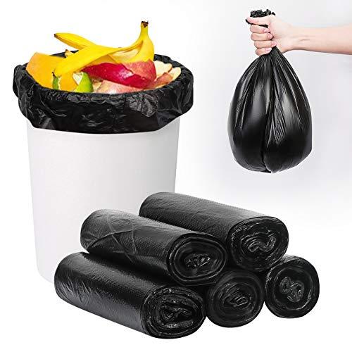 FYY Müllbeutel,Abfall-Säcke |5er Rolle | 100 Stück| 6 Gallonen Abfallbeutel Müllsäcke,Mülltüten für Badezimmer Küche Schlafzimmer Toilette Büro, Schwarz