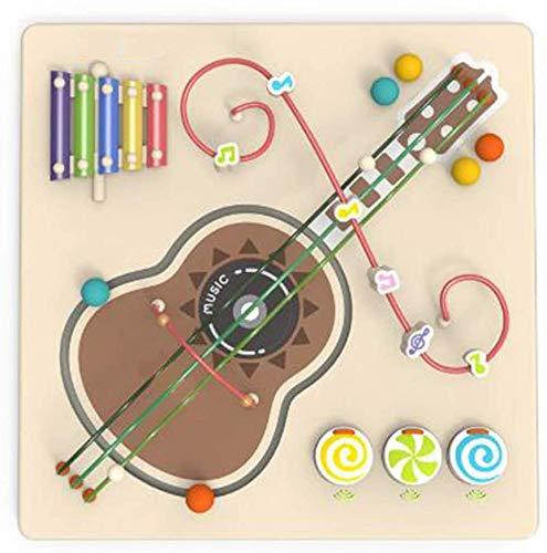 YYSDH Wall of Puzzle Garden Perlas Redondo para Guitarra De Madera De Los Juguetes Juego De Los Niños De Juguetes Educativos Granos Multicolores Ronda De La Capacidad De La Guitarra 45X45cm,A